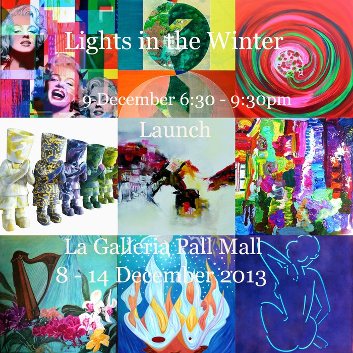 Lights in the Winter Exhibition at La Galleria Pall Mall London 2013