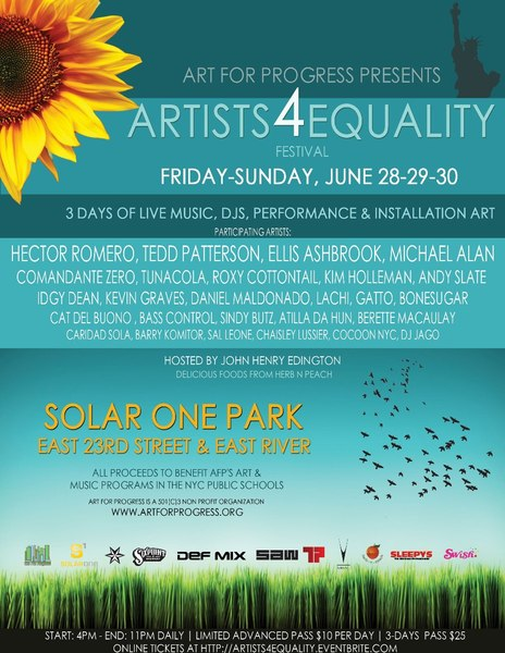 Artists4Equality Flyer