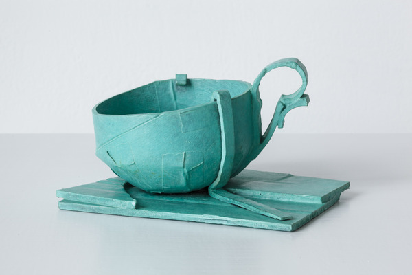 Ricky Swallow, Cup (with mounts), 2013, Patinated bronze, unique, 3 1/2 x 6 x 5 inches, Courtesy the Artist and Darren Knight Gallery, Sydney, Australia