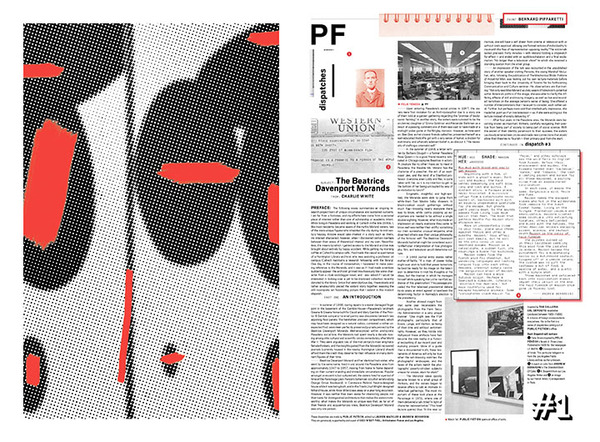 Public Fiction, Dispatch #1, 2013, comprised of Faits Divers; artwork by Bernard Piffaretti; Charlie white, Subject: Beatrice Davenport Morands, From: Charlie White; Andrew Berardini, Hue: Red, Shade: Maroon, Hex:#8000000, The Standard Book of Color. Courtesy Public Fiction.