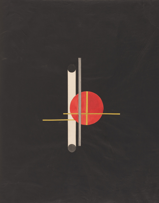 László Moholy-Nagy, Q, 1922, Collage with watercolor, pen, and black ink over graphite and carbon, 23-3/16 x 18-1/4 in., National Gallery of Art, Washington D. C., Ailsa Mellon Bruce Fund