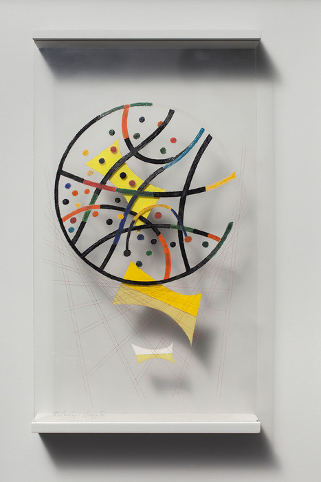 László Moholy-Nagy, Untitled Space Modulator, 1946, 37 x 21.5 cm., Oil on Plexiglas, McMaster Museum of Art, Levey Bequest Purchase