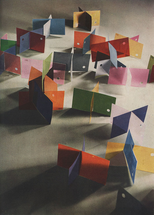 László Moholy-Nagy, Dufay Color Photograph (Light Filtering), 1935, Color reproduction in Vison in Motion, Dufay color process, Dimensions variable