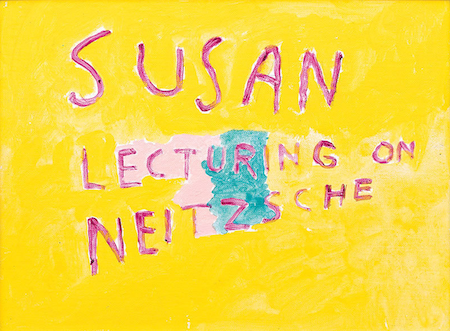Susan lecturing on Neitzsche, 1987
