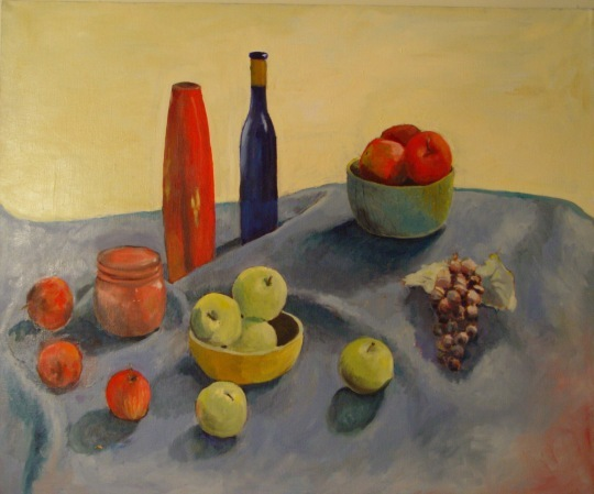 Apples, Grapes And Vases