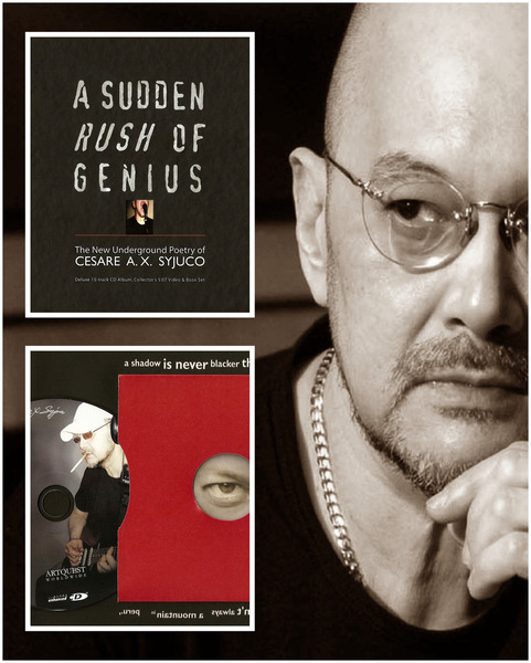 Cesare A.X. Syjuco's Sudden Rush of Genius (2011 book & CD of poems and music)