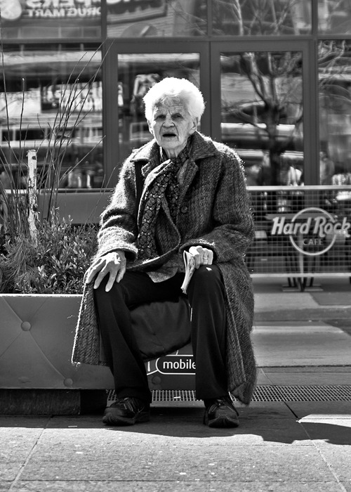 Well Deserved Break Yonge and Dundas Sts Toronto Ontario