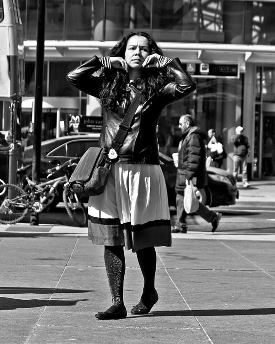 Just Before The Flip Yonge and Dundas Sts Toronto Ontario