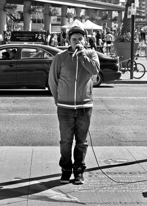 Human Beatbox Yonge and Dundas Sts Toronto Ontario
