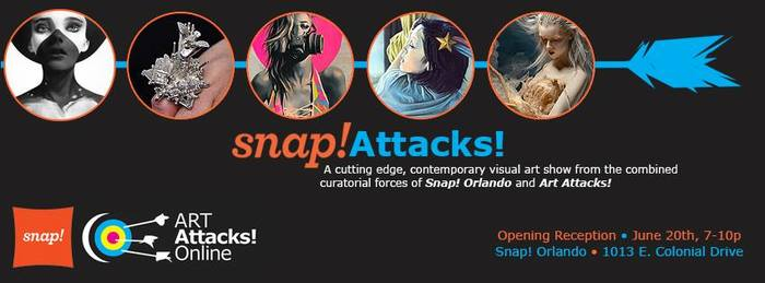Snap! Attacks Art Exhibition Banner