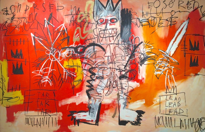 Jean-Michel Basquiat Untitled 1981 acrylic, oilstick and metallic spray enamel on canvas 68 x 103 inches