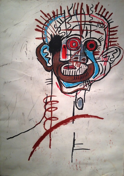 Jean-Michel Basquiat Untitled 1981 oilstick on paper 43 x 30 inches