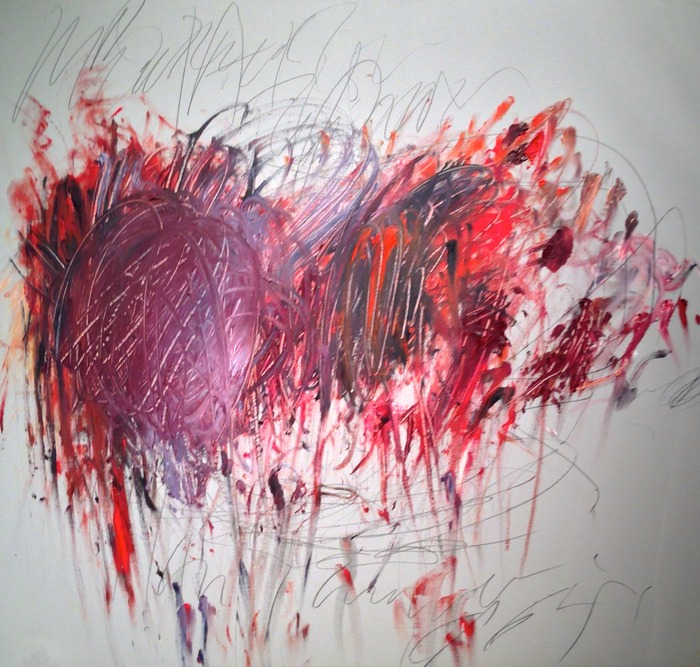 Cy Twombly Untitled 1952 oil, wax crayon and graphite on canvas 39 x 43 inches