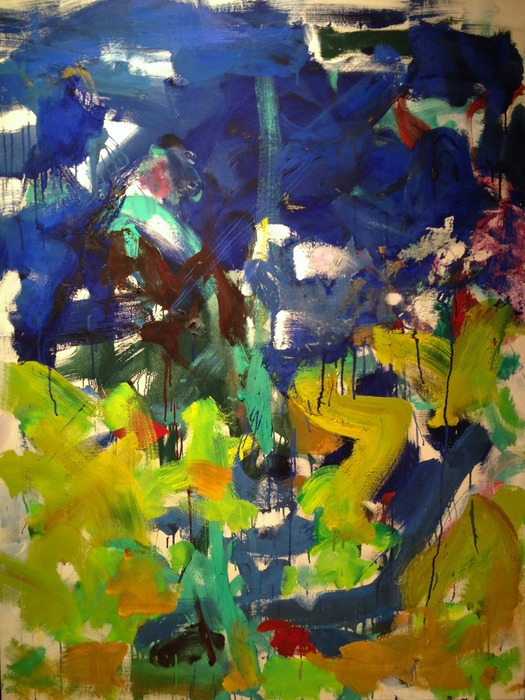 Joan Mitchell Border 1989 oil on canvas 45.5 x 35 inches
