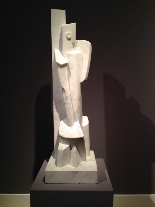 Jacques Lipchitz - Femme Assise 1916/1971 marble height 60 inches