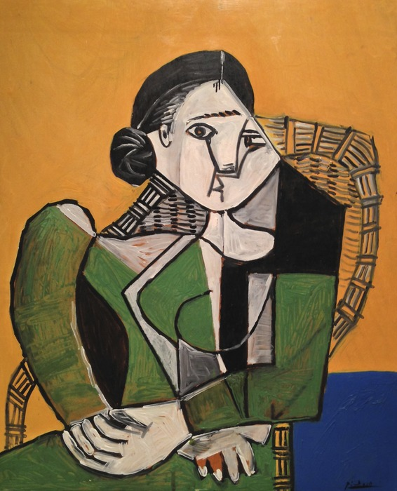 Pablo Picasso - Femme Assise dans un Fautuil March 5, 1953 marble height 60 inches