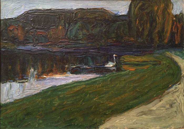Wassily Kandinsky Skize für Abend 1901 oil on canvas 9.5 x 13 inches
