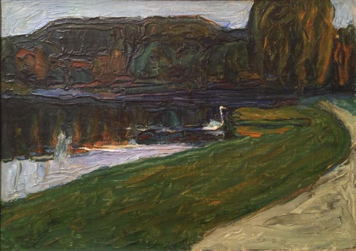Wassily Kandinsky Skize für Abend 1901 oil on canvas 9.5 x 13 inches