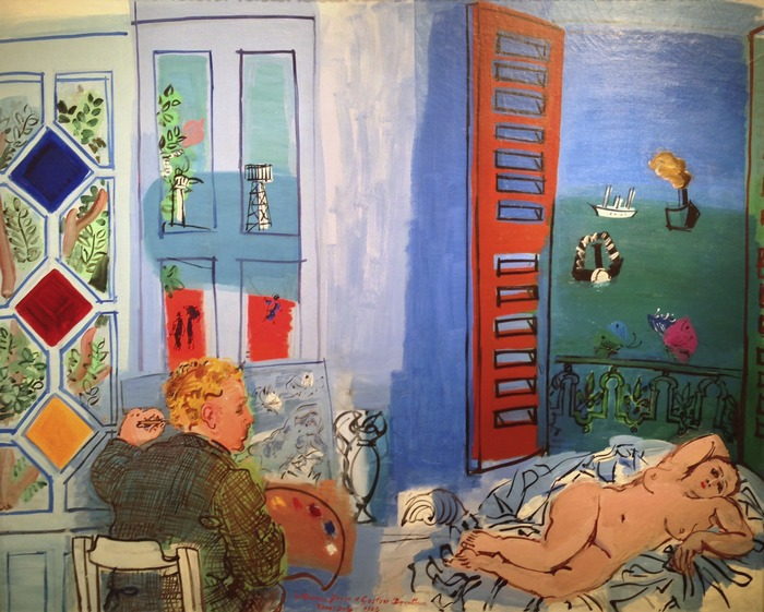 Raoul Dufy L'Artiste et son Modéle 1929 oil on canvas 51.25 x 63.75 inches
