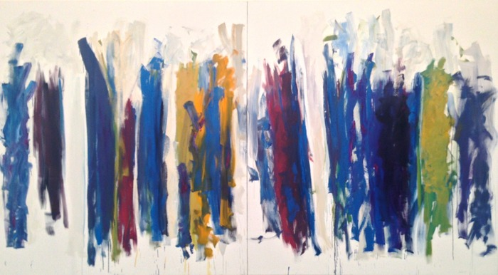 Joan Mitchell Trees (diptych) 1990–91 oil on canvas 86 3/4 x 157 1/2 inches  Collection of the Joan Mitchell Foundation, New York