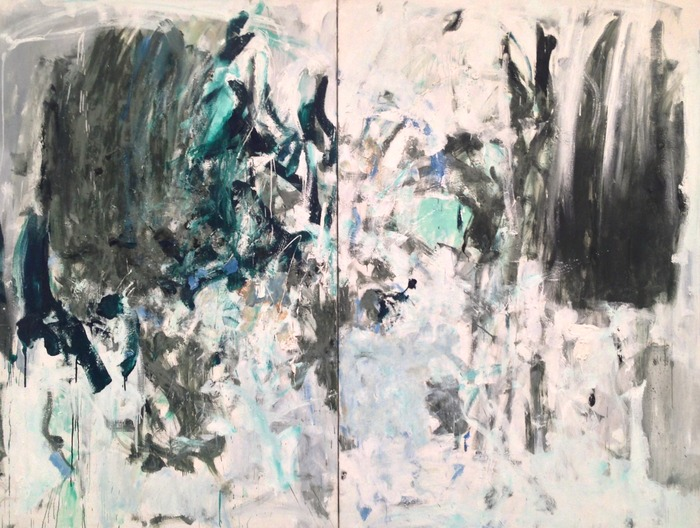 Joan Mitchell Cypress (Diptych) 1975 oil on canvas diptych 76 3/4 x 102 inches