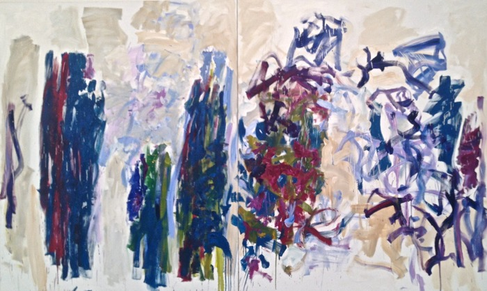 Joan Mitchell Trees (Diptych) 1976 oil on canvas 94 1/2 x 157 1/2 inches
