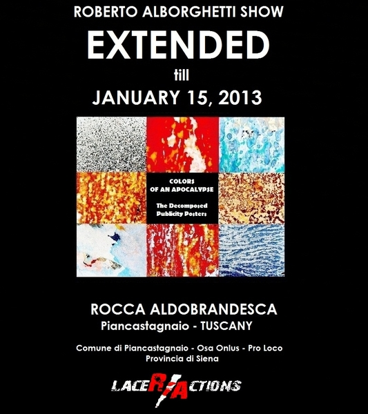 ROBERTO ALBORGHETTI SHOW AT ALDOBRANDESCA FORTRESS EXTENDED UNTIL JANUARY 15, 2013