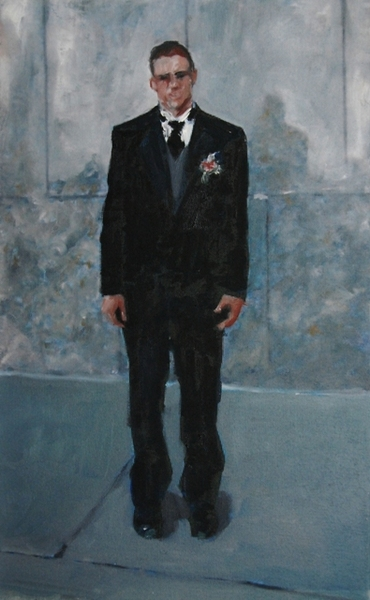 2008, Just Married, 30x48cm, oil on canvas, Dionisis Christofilogiannis