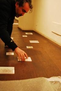 Michele Lancuba setting up his piece