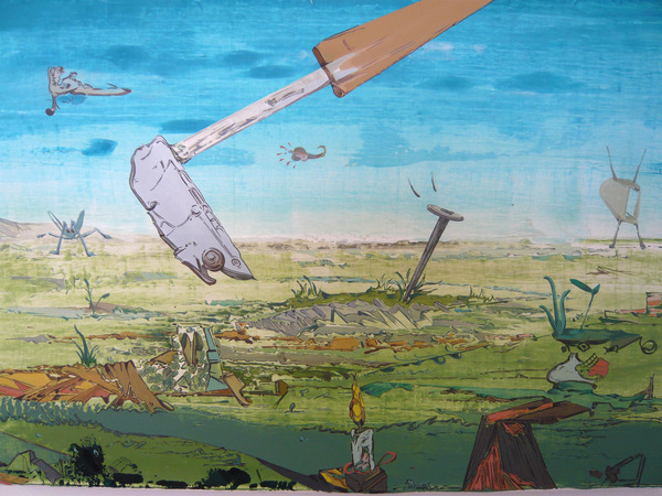 Johan Nobell, Desperate Trails, 2009, oil on linen, 15 3/4 x 23 1/2 inches. Courtesy of the artist and Pierogi.