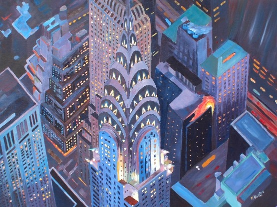 Chrysler Building Painting
