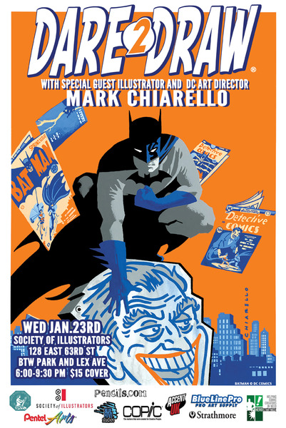 Come Dare2Draw With Special Guest Mark Chiarello!
