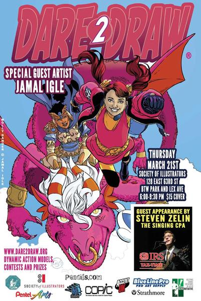 Come Dare2Draw With Special Guest Jamal  Igle!