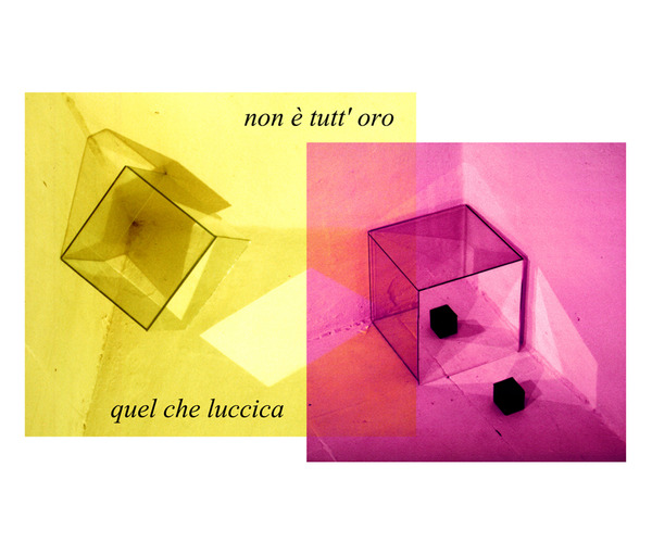 Non e tutt'oro quel che luccica -  digital print of slide installation