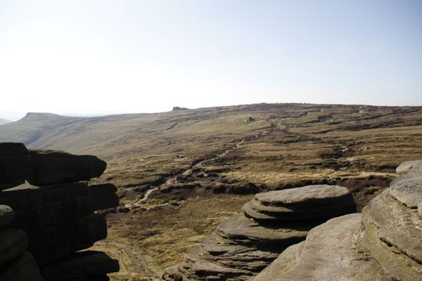 The peak district in Edale, just outside of Manchester, UK.  September 2011.