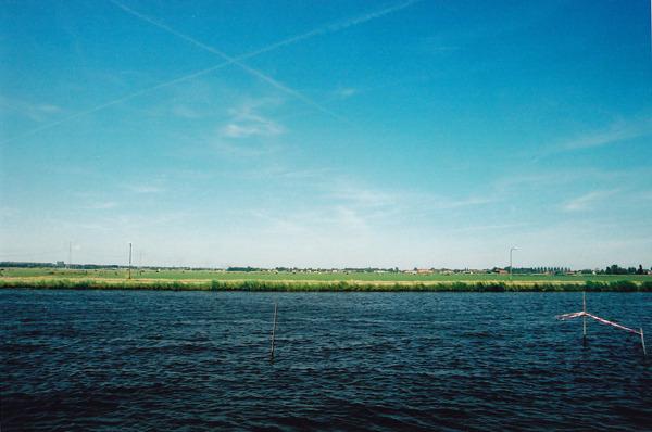 Biking to Monnickendam, 15km north of Amsterdam, to go to the beach.  May 2011.