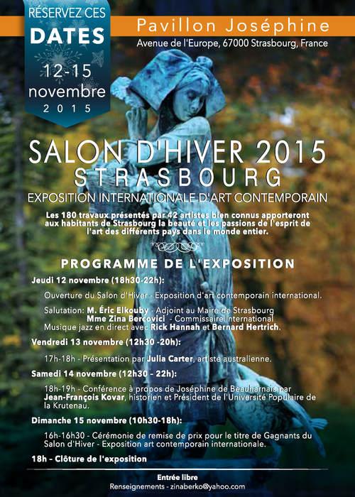 Winter Art Salon Strasbourg Pavillon Josephine 2015