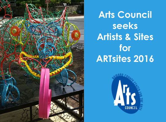 Call to artists artsites 2016 the howard county arts for Howard county craft fair