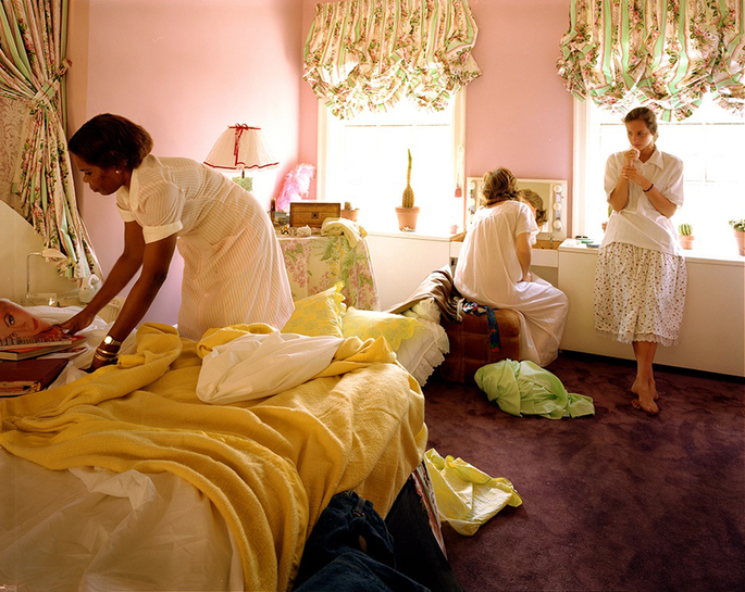 Beverly, Jill and Polly, 1982 chromogenic color print 48 x 60 inches,  (c) Tina Barney, Courtesy of Paul Kasmin Gallery