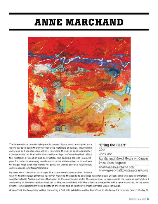 Anne Marchand, Art Voices The Viewing Room