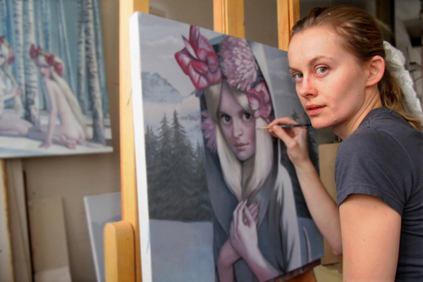 Jana Brike in her Studio, 2013