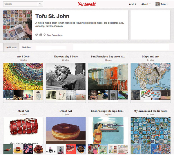Tofu's Pinterest Boards
