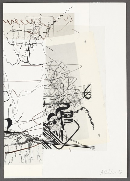 Albert Oehlen, <i> Untitled<i>, 2010, paper, ink, and pencil on paper. Image courtesy of Courbett vs. Dempsey.