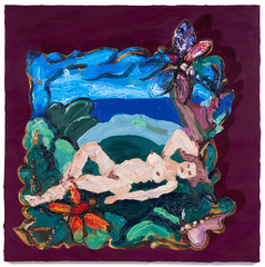 Aunt Prue\'s Nude on a Museum Wall (After Prudence Heward), Annelie McKenzie