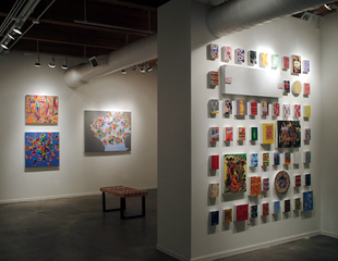 Left: Martina Nehrling Paintings: Right: Mark Murphy Puzzle Collages,