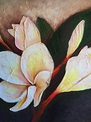 Plumeria/Gardenia Branch / Plumeria series, Claudette McDermott