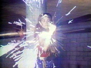 Still from Technology/Transformation: Wonder Woman, Dara Birnbaum