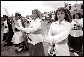2 Women Moor Soldiers, Fiesta de San Juan Bautista, Zacatecas, Mexico, , Miguel Gandert