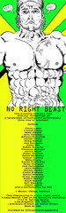 Too Many Abs Guy - No Right Beast Flyer, Matt Hewitt (layout by Jonah Olson)