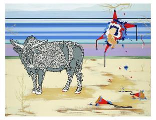 Bull and Pinata, Steven Vasquez Lopez